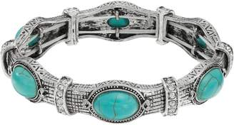 Kohl's Simulated Turquoise Antiqued Stretch Bracelet
