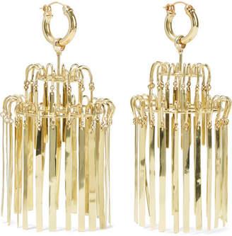 Ellery Veil Xl Chandelier Gold-plated Earrings