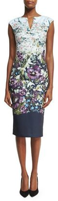Ted Baker London Tiha Entangled Enchantment Floral Sheath Dress, Blue $295 thestylecure.com