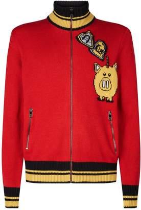 Dolce & Gabbana Pig Zip-Up Sweater