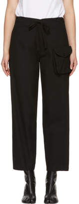 Y's Ys Black Detachable Pocket Trousers