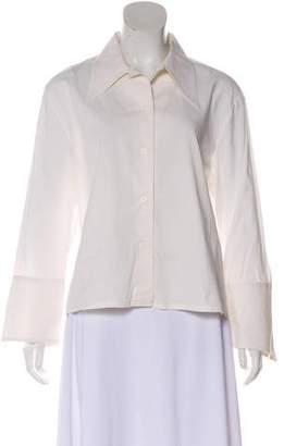 St. John Long Sleeve Button-Up Top