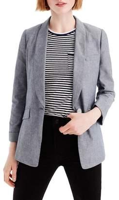 J.Crew J. CREW Unstructured Shawl Collar Cotton Linen Blazer
