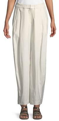Urban Zen Sculpted Wide-Leg Linen-Blend Trousers