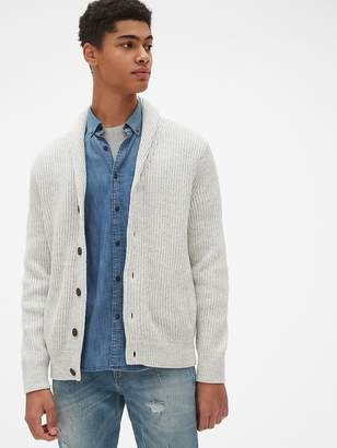 Gap Ribbed Shawl Cardigan Sweater