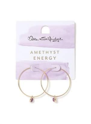 Miss Selfridge Healing energy hoop earrings