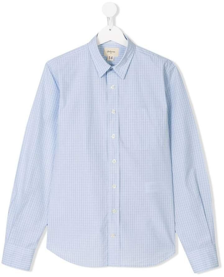 Bellerose Kids TEEN checked long sleeve shirt