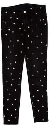 Stella McCartney Mid-Rise Polka Dot Jeans