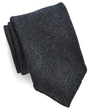 Drakes Drake's Navy Herringbone Tie