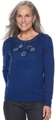 Croft & Barrow Women's Crewneck Holiday Sweater