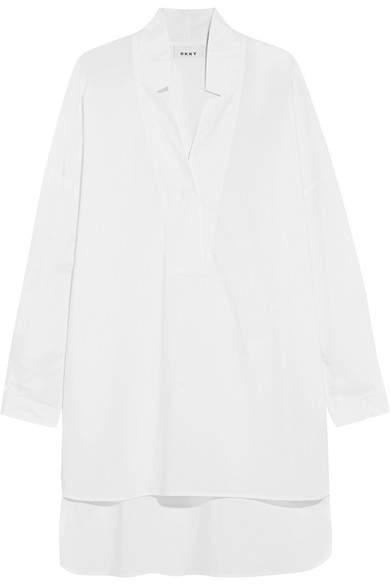 DKNY - Oversized Cotton-poplin Tunic - White