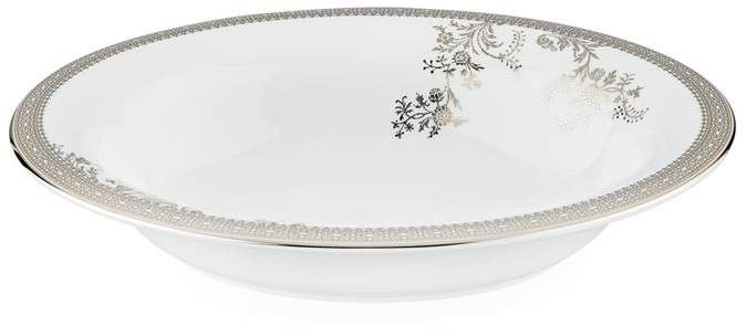 Lace Platinum Open Vegetable Dish