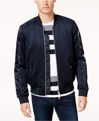 Armani Exchange Men's Satin Bomber Jacket