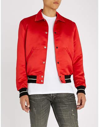 The Kooples Striped-trim satin jacket
