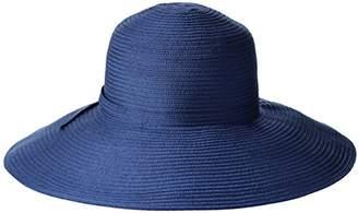 San Diego Hat Company Women's 5-Inch Brim Sun Hat With Braid Self-Tie
