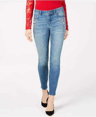 INC International Concepts I.n.c. Rhinestone-Studded Skinny Jeans