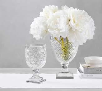 Pottery Barn Monique Lhuillier Ava Clear Cut Glass Vase