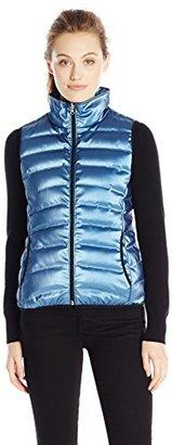 Calvin Klein Jeans Women's Metallic Puffer Vest $99.95 thestylecure.com