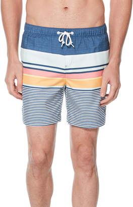 Original Penguin Engineered Stripe Volley Swim Trunks