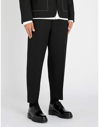 Jil Sander Dropped-crotch straight-leg wool-twill trousers