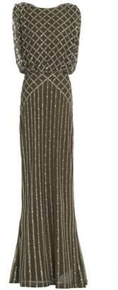 Rachel Gilbert Yuliya Fluted Embellished Tulle Gown