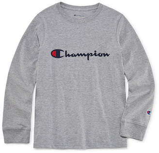 Champion Long Sleeve Crew Neck T-Shirt-Big Kid Boys