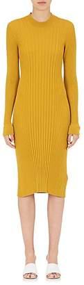 Maison Margiela Women's Mock-Turtleneck Wool Fitted Dress