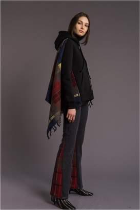 Sonia Rykiel Tartan Pattern Fleece Hoodie