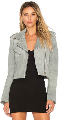 Understated Leather Cropped Bell Sleeve MC Jacket