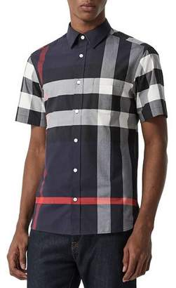 Burberry Men's Windsor Check Short-Sleeve Shirt