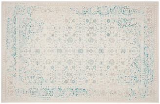 One Kings Lane Nadette Rug - Turquoise/Ivory