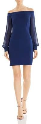Aidan Mattox Off-the-Shoulder Crepe Dress - 100% Exclusive