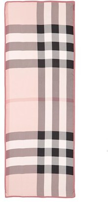 Women's Burberry 'Ultra Mega Check' Washed Mulberry Silk Scarf $450 thestylecure.com