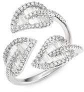 Anita Ko 18K Gold& Diamond Tri-Leaf Ring