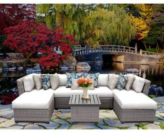 tk.TAKEO KIKUCHI Classics Florence 7 Piece Sectional Seating Group with Cushions Cushion