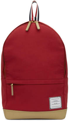 Thom Browne Red Unstructured Backpack