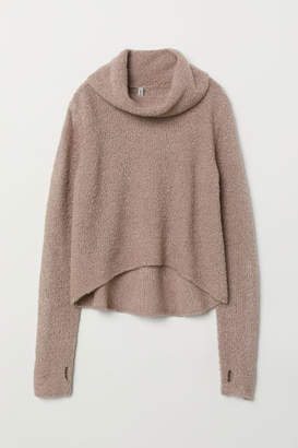 H&M Boucle Turtleneck Sweater - Brown