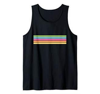 Abstract Colorful Stripes Vintage 80s Style Tank Top