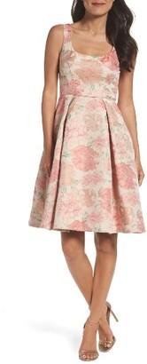 Women's Maggy London Jacquard Fit & Flare Dress $168 thestylecure.com