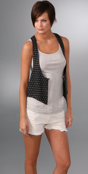 Sass & Bide World At My Feet Vest with Studs