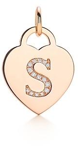 "Tiffany & Co. Alphabet heart tag letter ""S"" charm"