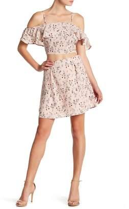 Sadie & Sage Floral Woven Skirt