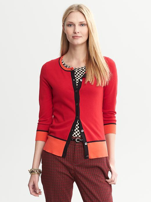 Issa Collection Colorblock Cardigan