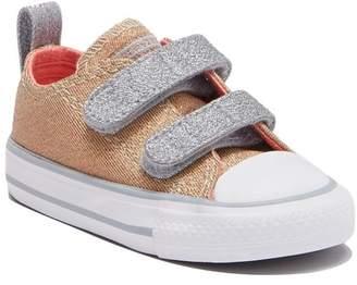Converse Double Vamp Strap Sneaker (Toddler)