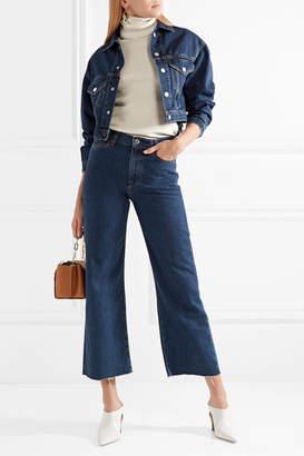 Simon Miller W006 Toluca Cropped High-rise Wide-leg Jeans - Dark denim