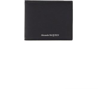 Alexander McQueen Logo print leather clip bifold wallet