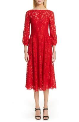 Valentino Lace A-Line Midi Dress