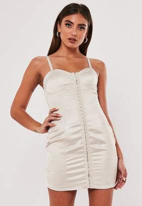 Missguided Jordan Lipscombe X Champagne Bust Cup Dress
