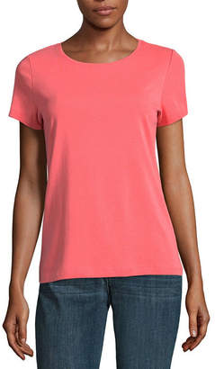 ST. JOHN'S BAY Short Sleeve Scoop Neck T-Shirt - Tall