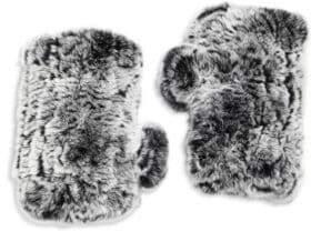 Surell Rabbit Fur Texting Gloves